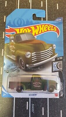AU4 • Buy Hot Wheels 2020 - Rod Squad - '52 Chevy Pickup  Green - Long Card