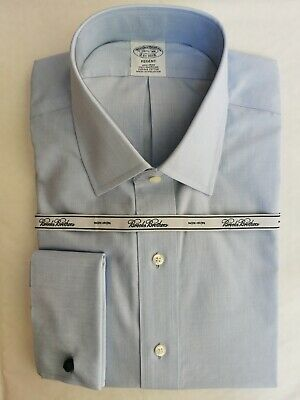 Brooks Brothers Regent Fitted Dress Shirt, 16.5  Spread Collar, French Cuff • 49.50£