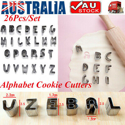 AU13.88 • Buy 26 Alphabet Letter Number Fondant Cake Cutters Cookie Baking Mould Biscuit Mold