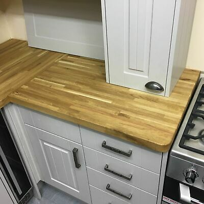 UP TO 10% OFF Real OAK Kitchen Worktop Cheapest Solid Wood SALE Island Bar Table • 143£
