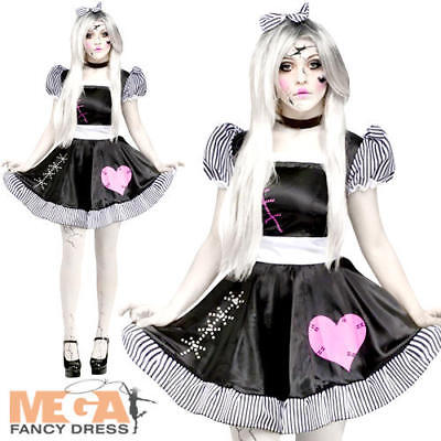 Broken Rag Doll Ladies Fancy Dress Halloween Adults Womens Zombie Costume Outfit • 14.99£