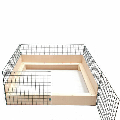 Puppy Dog Whelping Box 1.2m X 1.2m (4ft X 4ft) With Timber Sides & Pig Rails Pen • 96.95£