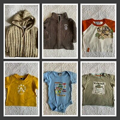 AU21.60 • Buy 💙 👕 Childrens Kids Clothing Clothes Boys Size 6-12 Mths Tees Tops Adidas Guess