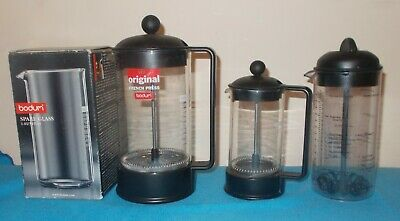Bodum Coffee Lot French Press Spare Glass Small French Press Milk Frother • 24.99£