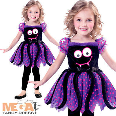 Cute Spide Girls Halloween Fancy Dress Insect Bug Toddler Childrens Kids Costume • 14.49£