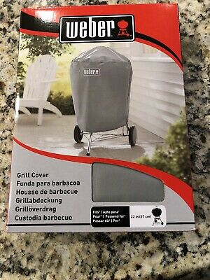 $ CDN29.76 • Buy Weber Charcoal Kettle Grill Cover Storage Outdoor All Weather Fabric 22  - Gray
