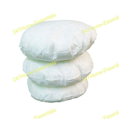 32  Round Cushion Pad Crushed Foam Filled Inner Insert Floor Scatters Sitting • 15.98£