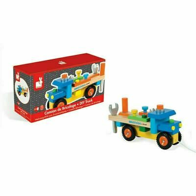 Janod Original DIY Truck Includes 3 Tools & 14 Wooden Pieces + Pull Stirng+2yrs • 24.20£