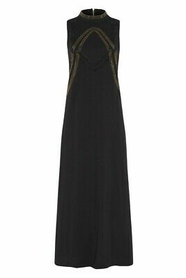 AU149 • Buy SASS AND BIDE EMBELLISHED MAXI TEE DRESS In Black  RRP$350 Size L