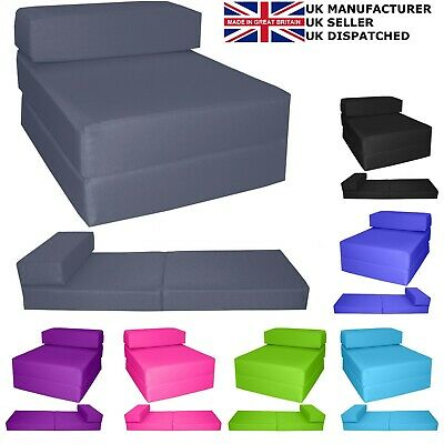 £39.99 • Buy Fold Out Futon Single Guest Z Chair Bed Folding Mattress Sofa Bed Chairbed Gilda