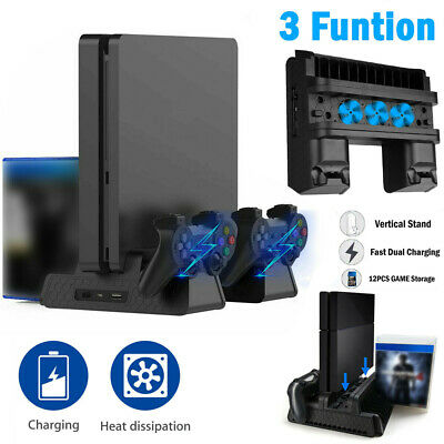 AU36.80 • Buy For PS4 Pro / Slim Vertical Stand Cooling Fan Controller Charging Dock Station E