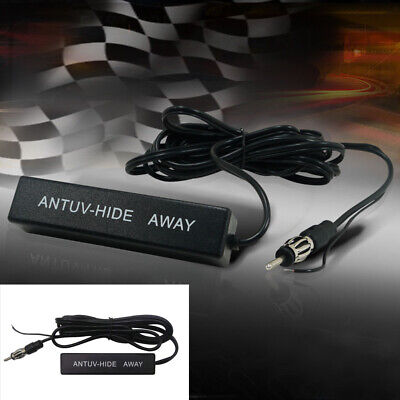 Universal Car Amplified Antenna Kit Electronic Stereo AM/FM Radio 12V QY • 4.26£