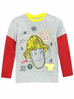 BNWT In Packaging Fireman Sam Boys Long Sleeve T Shirt Top Jumper Age 5-6 • 9.99£