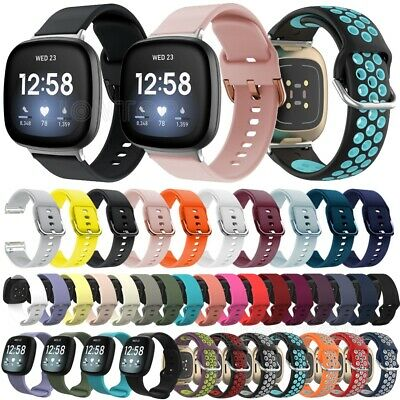 $ CDN7.25 • Buy For Fitbit Versa 3 / Sense Silicone Wrist Strap Wristband Replacement Watch Band