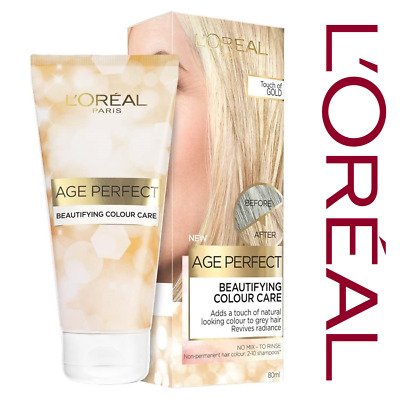 Hair Dye Loreal Age Perfect Colour Care Semi-Permanent Touch Of Gold Toner 80ml • 6.99£