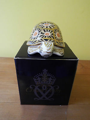 Royal Crown Derby Indian Star Tortoise - New In Box • 85£