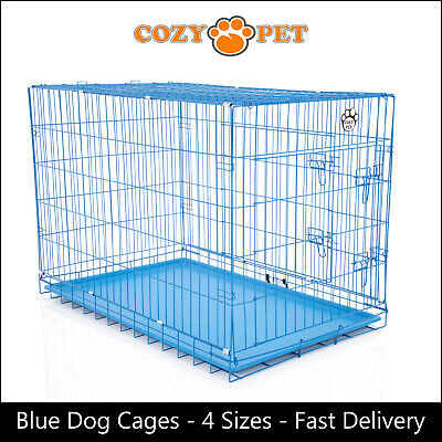 £33.99 • Buy Dog Cage By Cozy Pet Blue Puppy Crates 4 Sizes S M L XL Cat Carrier Transport