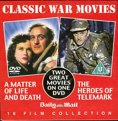 A MATTER OF LIFE & DEATH + THE HEROES OF TELEMARK - 2 British War Films On 1 DVD • 1£