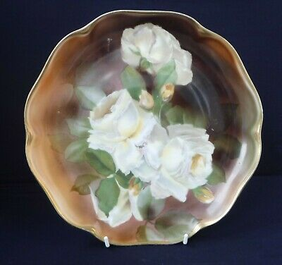 Rosenthal Hand Painted Roses Plate, Signed • 25£