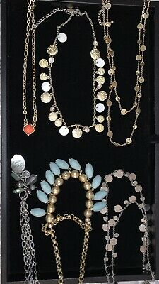 $ CDN61.41 • Buy Lia Sophia Lot Of Statement Necklaces Gold Silver Multicolored