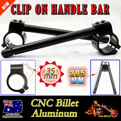 AU43.46 • Buy 35mm Black CNC Clip On Handle Bars For Yamaha TX-750/A 73-74
