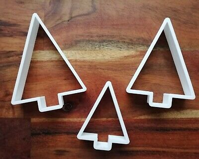 £3.89 • Buy Triangle Tree Cookie Cutter Biscuit Dough Pastry Fondant Christmas Xmas XM150-52