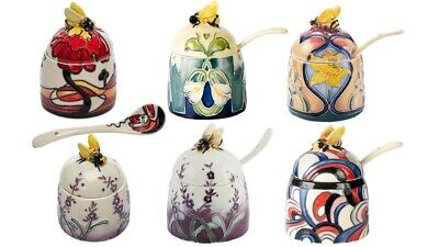 Old Tupton Honey Pot Designed By Jeanne McDougall Matching Spoons Ceramic  • 22.90£