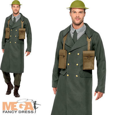 WW2 British Officer Mens Fancy Dress Military Army Uniform Adults Costume Outfit • 24.99£