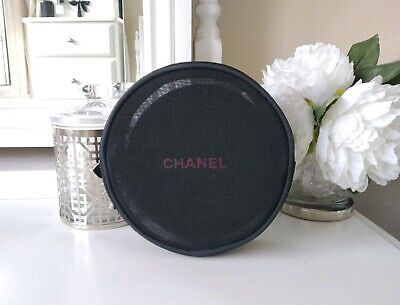 Genuine Chanel Limited Edition Black Round Mesh Make Up Bag & Removable Mirror • 29£