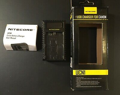 Nitecore UCN1 USB Dual Slot Battery Charger For Canon Camera LP-E6/LP-E6N/LP-E8 • 12£