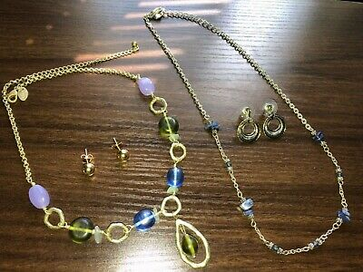 $ CDN8.01 • Buy Fashion Jewelry Necklace & Earring LOT Of 4 - Incl. Lia Sophia MANTRA Necklace