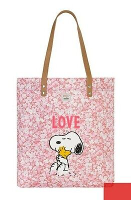 (bg266) Cath Kidston X Peanuts Love Washed Pink Tote Shopping Bag *read Desc* • 14.99£