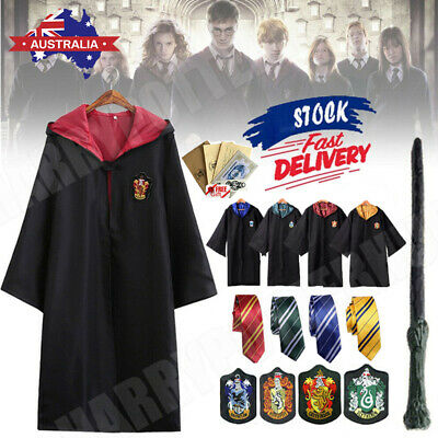 AU22.99 • Buy AU Robe+Tie+Scarf Harry Potter Costume Gryffindor Halloween Cosplay Party Xmas