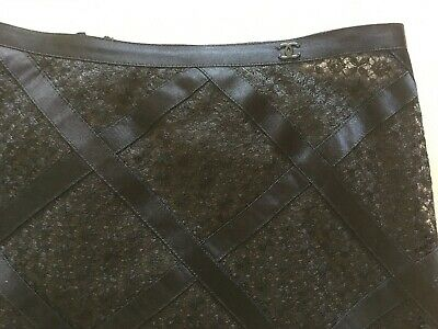 £325.68 • Buy Chanel Black Lace Skirt