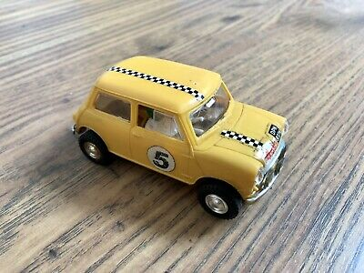 Scalextric Rare Vintage C7 Yellow Rally Mini Cooper Touring Car • 11£