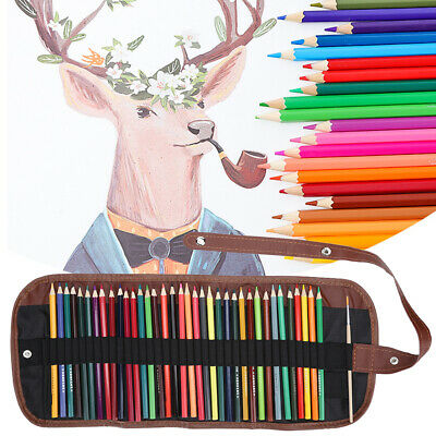 36 Pcs Colors Water‑Soluble Students Painting Kit Pencils Draw Oil Pastel Paint • 10.96£