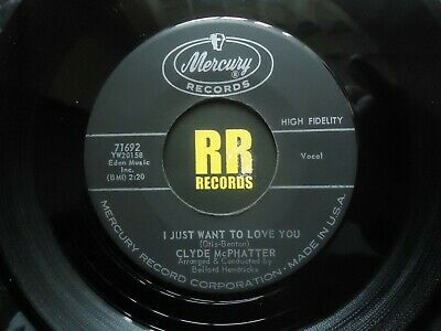£15 • Buy Clyde Mcphatter - I Just Want To Love You Us Mercury Rock'n'roll R&b