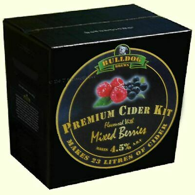 Bulldog Brews Home Brew Fruit Cider Making Ingredient Kit MIXED BERRIES (EPHB) • 29.98£