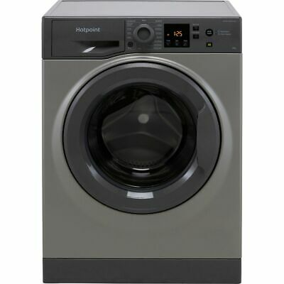 £329 • Buy Hotpoint NSWM843CGGUKN A+++ Rated D Rated 8Kg 1400 RPM Washing Machine Graphite