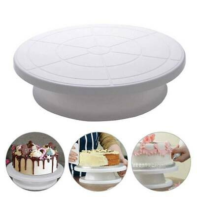 28cm Rotating Cake Icing Deocrating Revolving Kitchen Stand Turntable Tool T #UK • 4.48£