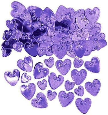 £2.49 • Buy  Lilac Purple Hearts Table Confetti Wedding Engagement Party 2 Packs Decorations