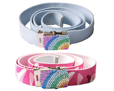 £4.99 • Buy Canvas Belt With Rainbow Buckle || Waist Size 24'' To 40'' Adjustable (BL3)