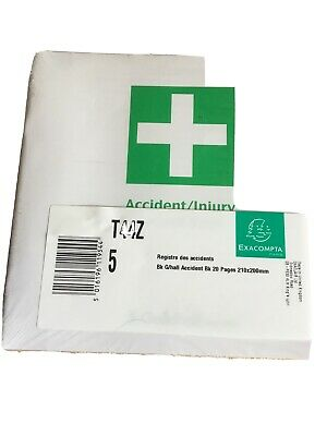 5 X HSE Accident Injury Report Books School Office Workplace Various Types • 5£