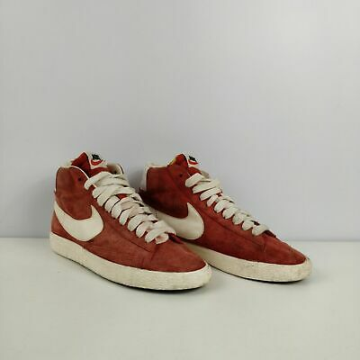 Womens Nike Blazers Red Suede High Top Trainers Sneakers Uk 4 Eu 37.5 Shoes • 14.99£