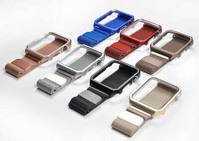 AU17.04 • Buy Milanese Steel Band For Apple Watch Series 1/2/3/4 With Cover Case 42mm 38mm