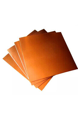 Copper Sheet / Plate -  0.5mm Thick - 300mm X 100mm - Grade C101 - Free Cutting • 3.99£