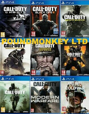 £9.99 • Buy Call Of Duty PS4 Assorted Game PICK ONE OR BUNDLE UP MINT Super Fast Delivery