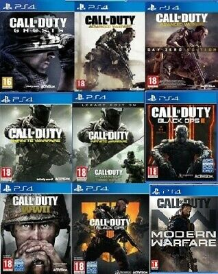 Call Of Duty PS4 Assorted Game PICK ONE OR BUNDLE UP MINT Super Fast Delivery • 14.99£