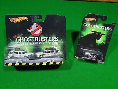 Hot Wheels Ghostbusters Ecto 1.double Pack.lot.bundle • 9.50£