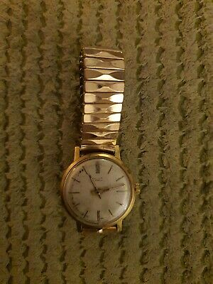 Vintage Poljot Watch - 20K Roll Gold - 17 Jewel - Made In USSR - 9K Gold Strap • 39£
